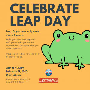 Celebrate Leap Day! @ Alameda Free Library, Main Branch